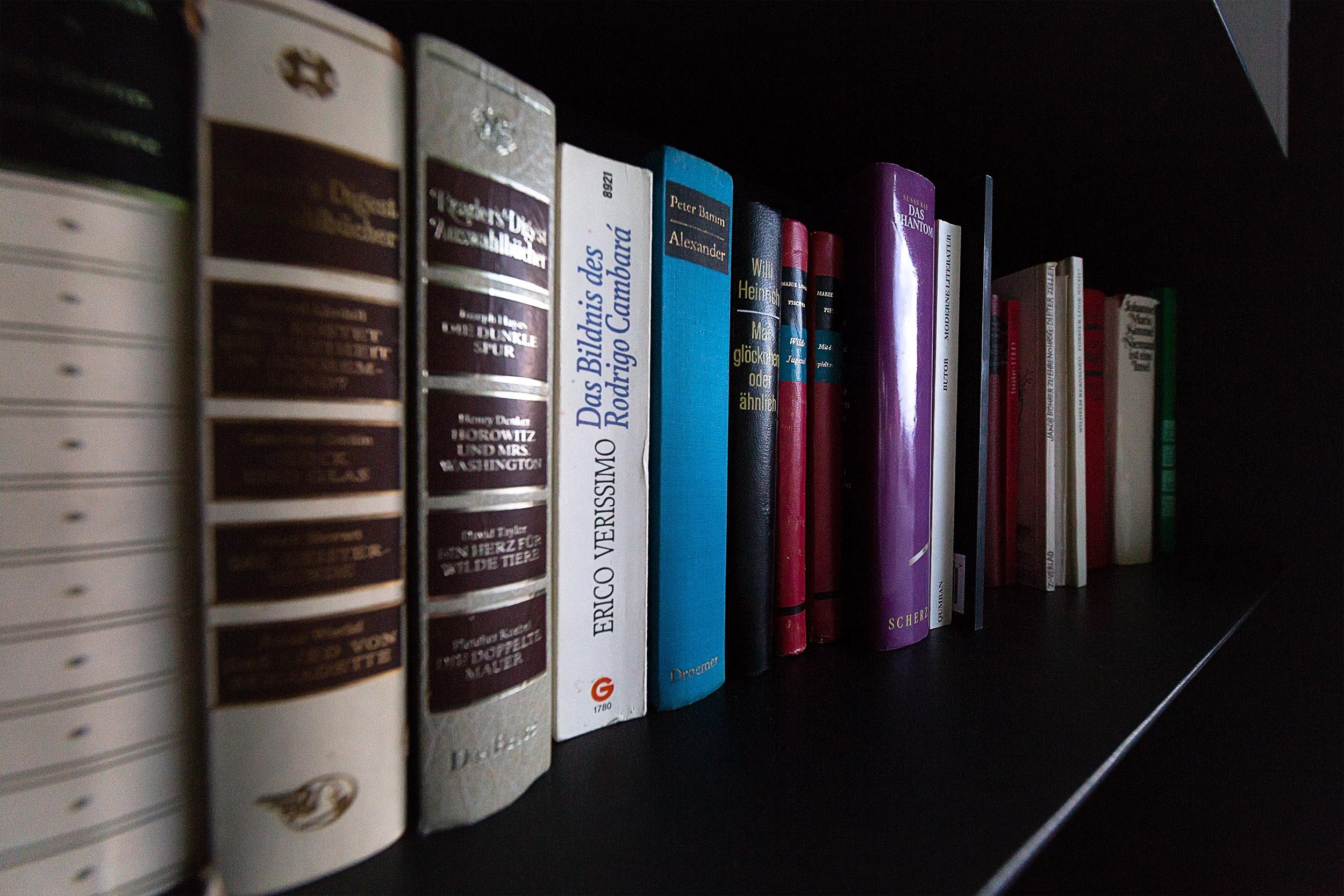 Bücher in einem Regal.