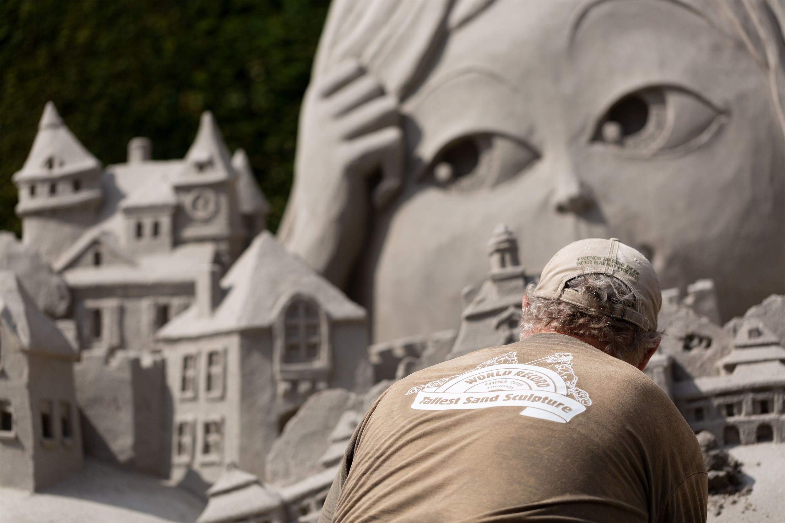 Gewinnermodell im Sandbauwettbewerb Blühendes Barock 2018