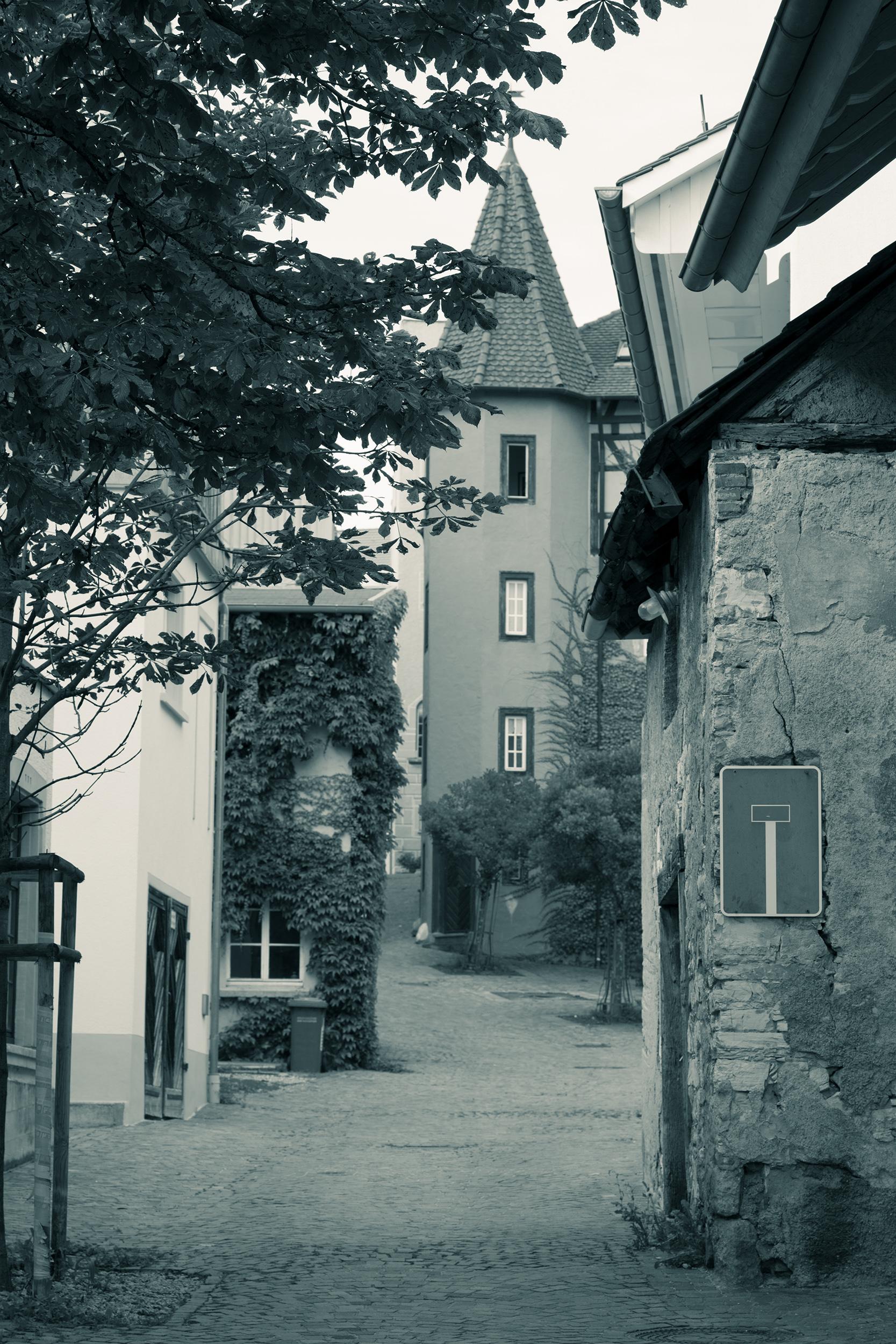 Sackgasse in der Altstadt von Engen.