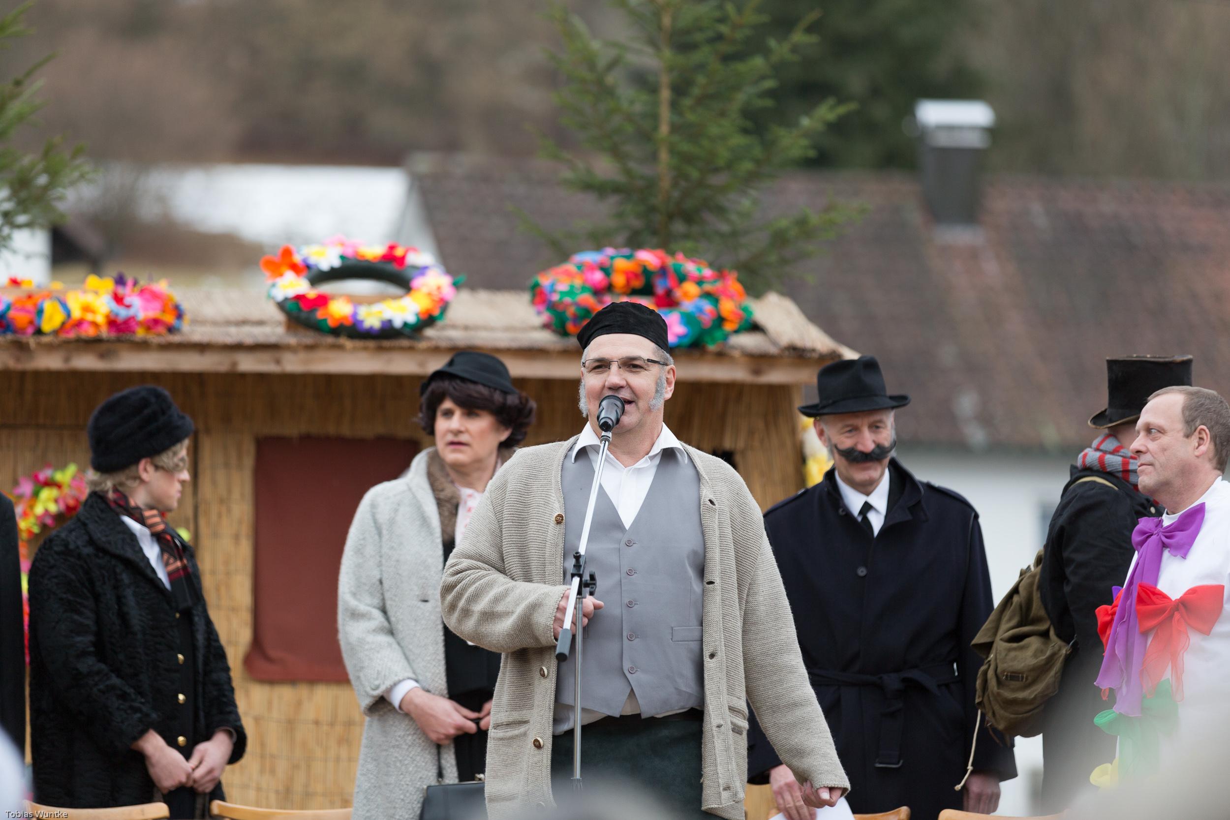 Eröffnungsrede zum Burladinger Fasnetsspiel.